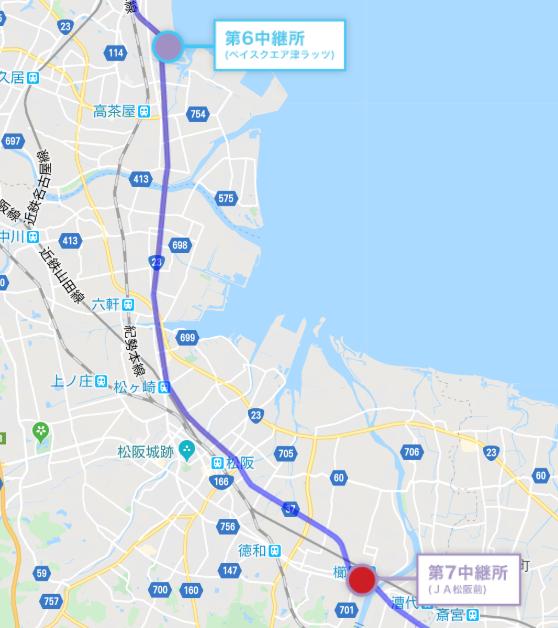 全日本大学駅伝地図7区