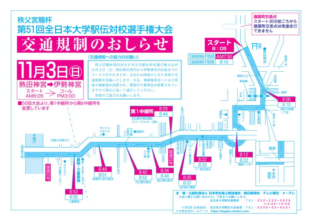 全日本大学駅伝交通規制01